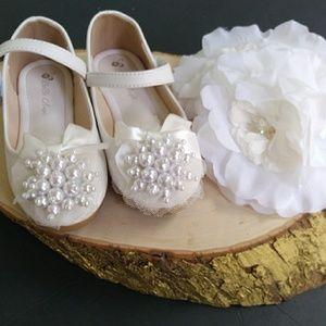 Flower girl bridal formal girls dress shoes